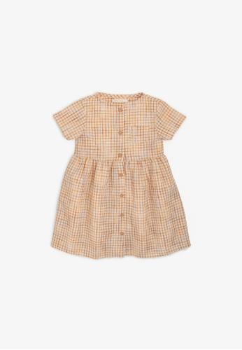 Gingersnaps yellow Girls Checkered Lounge Dress 07D69KA72CFD4AGS_1