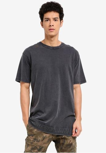 Cotton On 黑色 短袖褶飾滾邊T恤 7B1CBAACC5583BGS_1