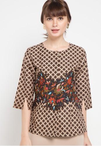 ARJUNA WEDA black Blouse Batik Kawung Pesisir FD050AAD184556GS_1