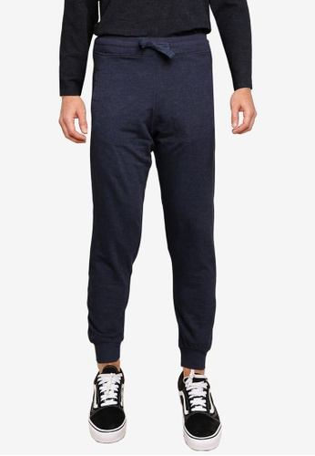 Electro Denim Lab blue and navy Slim Terry Joggers C090BAA4A6E812GS_1