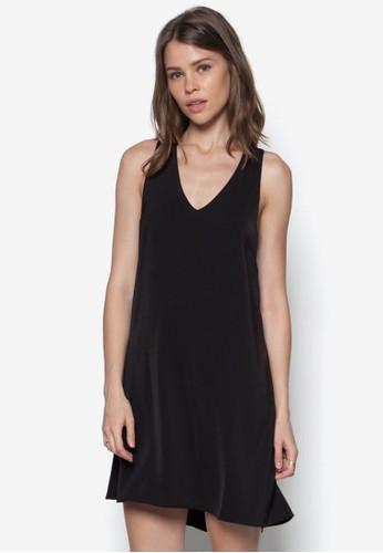 挖背寬鬆zalora時尚購物網評價連身裙, 服飾, 洋裝