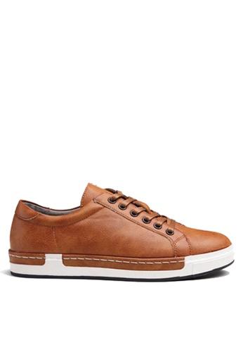 Twenty Eight Shoes 褐色 縫線邊運動鞋 VMT556 135D8SH8287344GS_1