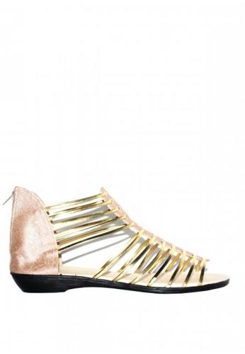 Liza Lyn gold Oria Sandals LI218SH0KRXBPH_1