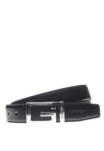 Grandir black Grandir Seregno Col.03 Belt 3.5 P - Silver Black 17F34AC39FAD9EGS_1