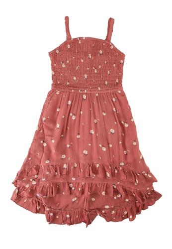 Abercrombie & Fitch red Ruffle Midi Dress 61922KAA60ECA6GS_1