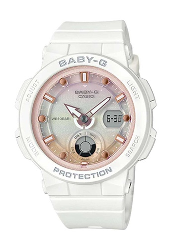 CASIO white Casio Baby-G Pink and White Resin Watch B8D23ACD9604E2GS_1