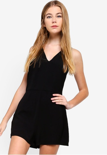 42510d88e888 Shop Something Borrowed V-Neck Sleeveless Playsuit Online on ZALORA  Philippines
