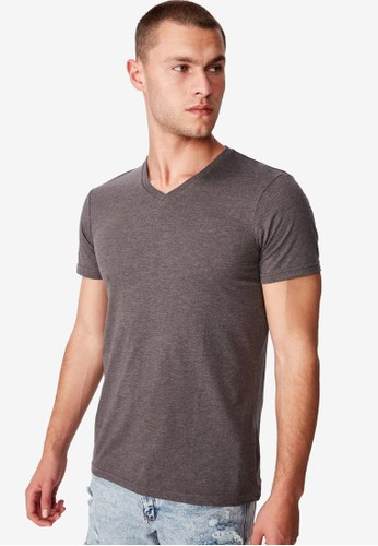 Cotton On grey The Other Vee T-Shirt CO372AA42SRHMY_1