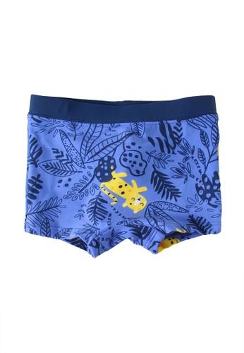 Du Pareil Au Même (DPAM) blue Print Swim Trunks F1281KADBFAE2CGS_1