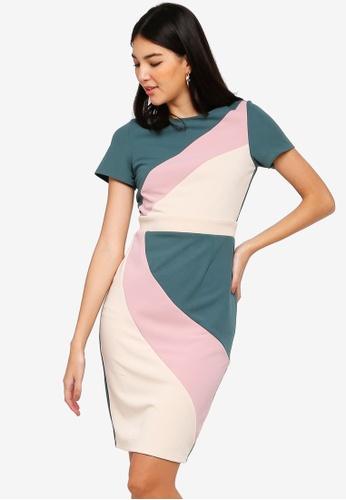 Paper Dolls multi Colour Block Dress 229CAAA705F316GS_1