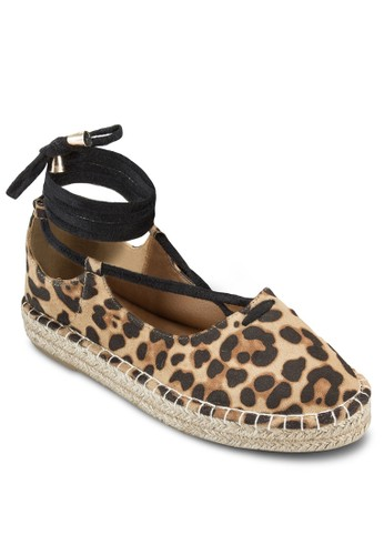 Sandy 纏繞式踝帶麻編鞋, esprit 高雄女鞋, 鞋