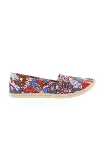 Beira Rio white and multi Multi Floral Print Slip On Espadrilles BE995SH46ADDHK_1