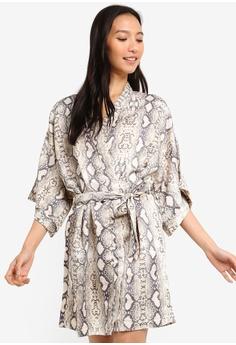 c1b67cbde40b0 Cotton On Body grey and white Kimono Gown 2BAAAAAB8D856FGS_1