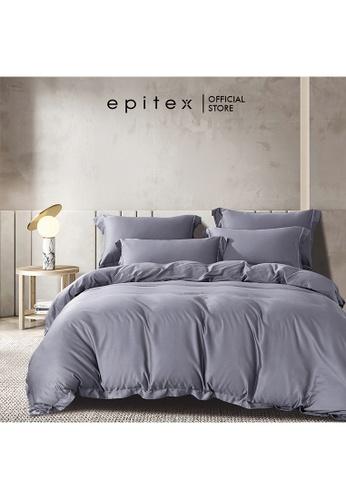 Epitex purple Epitex HOMME 1600TC Tencel Bedsheet - Fitted Sheet Set - Bedding Set - EHS2209 (Lilac Grey) 83BF6HLA13695FGS_1