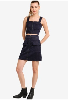 1a897324b 13% OFF Something Borrowed Zipper Corduory Mini Skirt S$ 39.90 NOW S$ 34.90  Sizes XS S M L XL