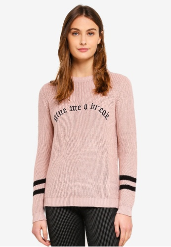 OVS pink Knit Pullover With Embroidery 2C763AA523794AGS_1