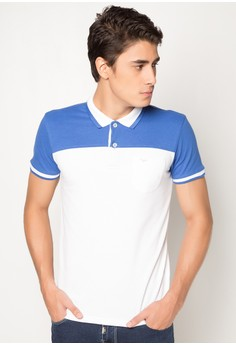 Slim Fit Cut and Sew Polo Tee