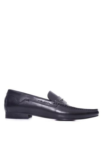 Zeve Shoes black Zeve Shoes Penny Moccasins - Black Handsewn Leather E5C3CSH024A9D1GS_1