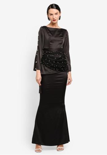 AfiqM black ALICIA Drape Kurung AF546AA0SXPXMY_1