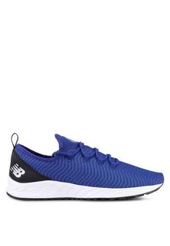 New Balance white and blue Arishi Slip On Fresh Foam Fitness Running Shoes NE323SH0SXN9MY_1