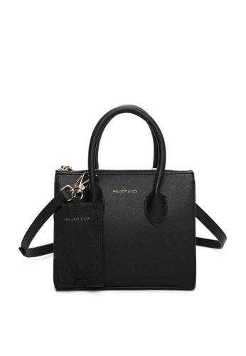 Milliot & Co. black Sebastiane Mini Top Handle Bag 4ED84AC3EBB63DGS_1