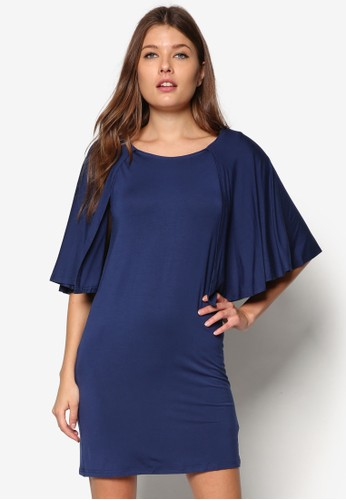 基本款蓋袖直zalora 內衣筒連身裙, 服飾, 洋裝
