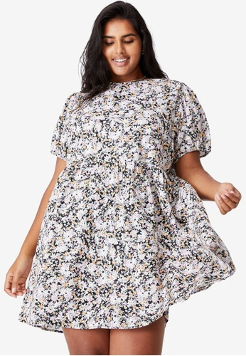 Cotton On black Curve Lucy Mini Dress 7510BAAAA35026GS_1