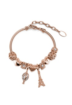 6e26b8367db Her Jewellery gold La Ville Charm Bracelet (Rose Gold) - Embellished with  Crystals from