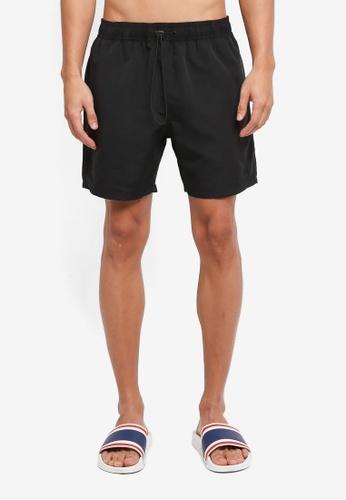 Topman black Boardshort Two Pockets 65EE1US62094A0GS_1