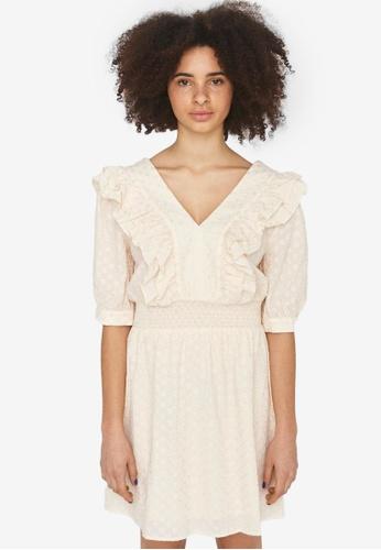 Noisy May white Sandra Emb Frill Dress A0BFEAA50B03C6GS_1