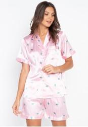 FEMINISM pink Shortsleeve Shorts Set 70890AA4216A83GS_1