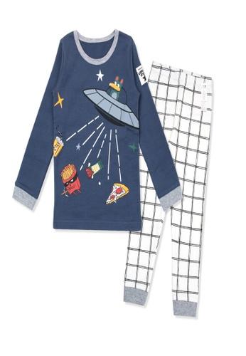Organic mom blue Organic Boys Blue Homewear Casualwear Pajamas 50680KA518DA32GS_1