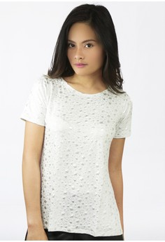 Sandra Short Sleeves Top with Side Slits