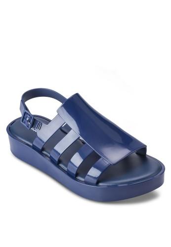 Besprit 童裝oemia 側鏤空多帶露趾厚底涼鞋, 女鞋, 鞋
