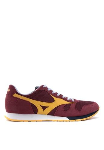 Mizuno red and yellow ML 87 Sneakers MI197SH67UCQPH_1