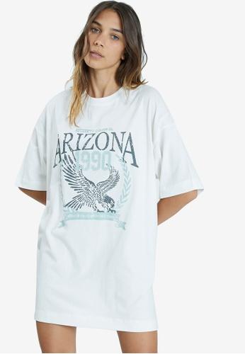 PIMKIE 白色 Oversized T-襯衫 1AEC6AA1F1F42DGS_1