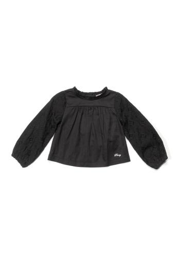 PONEY black Poney Toddler Mila Eyelet Long Sleeve Blouse 61D48KA04310E3GS_1