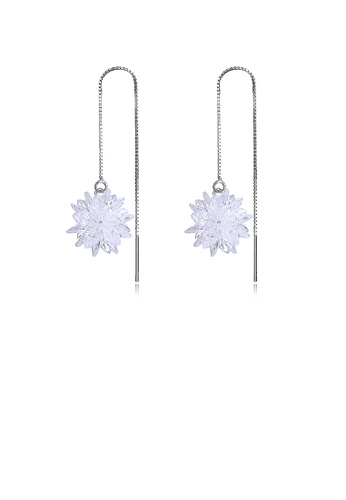 Glamorousky white 925 Sterling Silver Snowflake Earrings with Austrian Element Crystal 6DCCCAC2BEAE1AGS_1