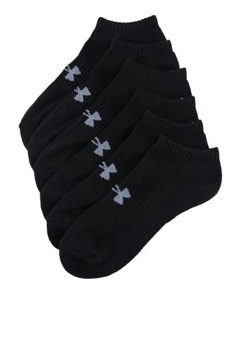 Under Armour black 3-Packs Core No Show Socks 9C5EAAC7918519GS_1