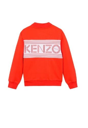 KENZO KIDS orange KENZO UNISEX LOGO JACKET EB12DKA8865CB3GS_1