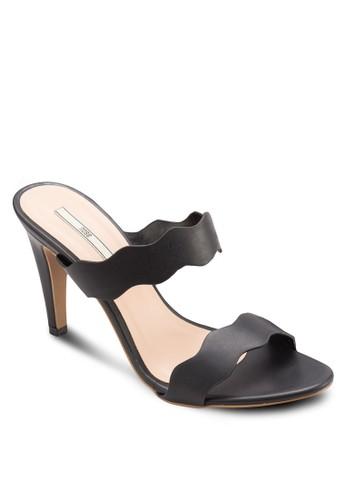 波浪雙帶esprit地址高跟涼鞋, 女鞋, 鞋