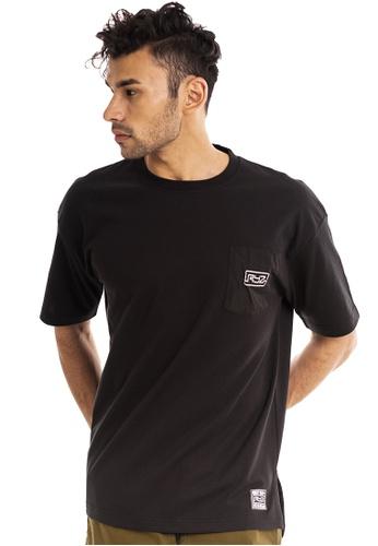 RYZ black RYZ Contrast Pocket Black Short Sleeve T-Shirt. 6AA12AA7005BBBGS_1