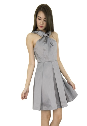 MOONRIVER grey Nova Classic Party Fit And Flare Dress MO886AA0GGM3SG_1
