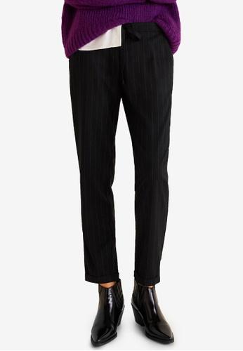 Mango black Printed Jogging Trousers 4E719AA724FE0DGS_1