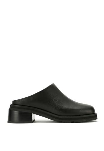 RABEANCO 黑色 RABEANCO BERMUDA 中跟拖鞋靴 - 平滑黑色 C0F43SH788370FGS_1