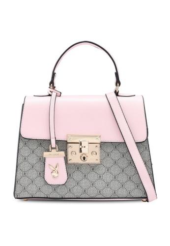 PLAYBOY BUNNY pink Ladies Handbag 63149AC7FBEE37GS_1