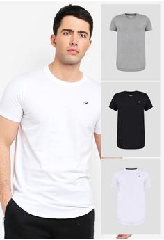 08560b5c1 Hollister multi Curved Hem Multipack T-Shirts 42EB0AA389B8AEGS_1