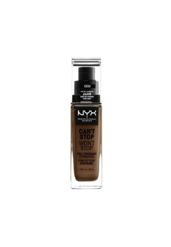 NYX Professional Makeup brown NYX Professional Makeup Can't Stop Won't Stop 24HR Foundation - COCOA 4708CBE1E2C4D6GS_1