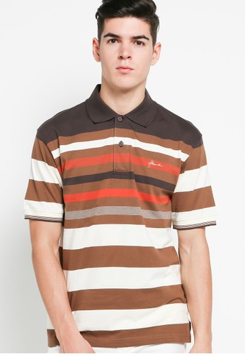 Hassenda brown Short Sleeve HA130AA77BHMID_1