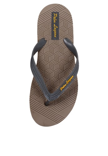 Palm Lagoon grey Sandals & flip flop Carve Geometric Grey 2FF5ASH391EC09GS_1